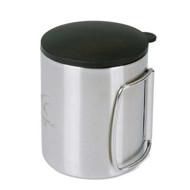 لیوان فلزی درب دار