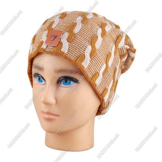 کلاه بافت سون طرح مارپیچ