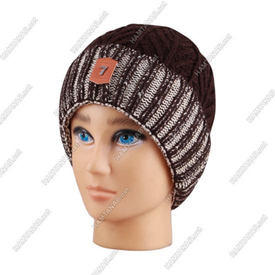کلاه بافت سون لبه تاشو