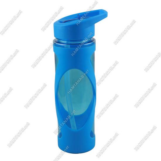 بطری آبی نی دار