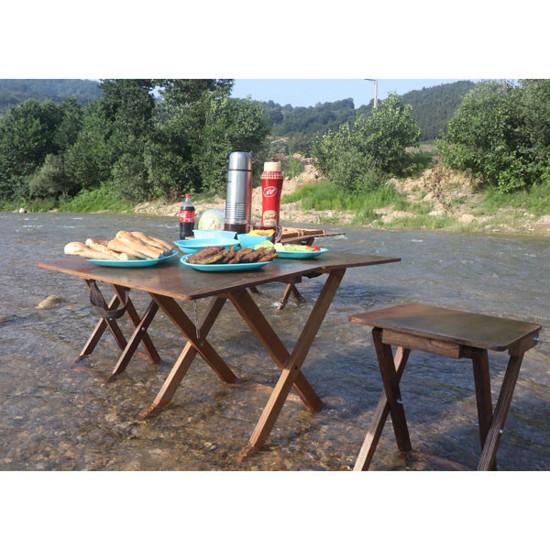 میز صندلی چوبی